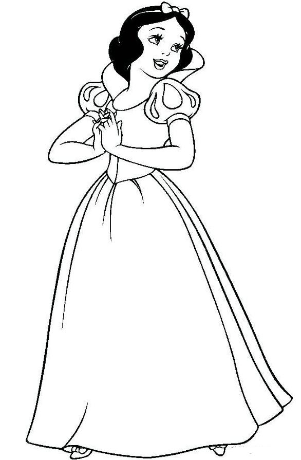 公主魔法棒简笔画