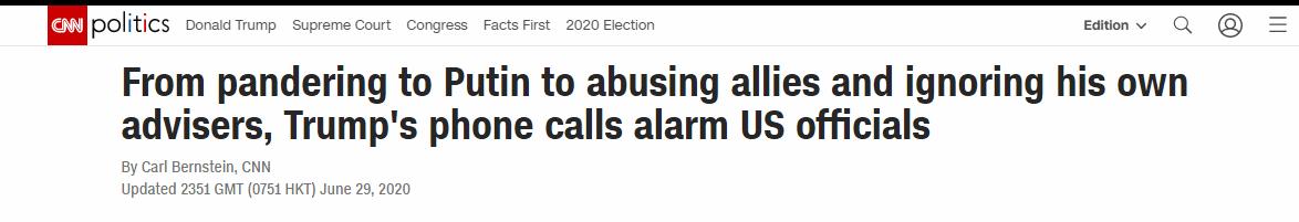 骂默克尔愚蠢,烦马克龙说教,想要普京尊重,CNN曝光电话里真实的特朗普!