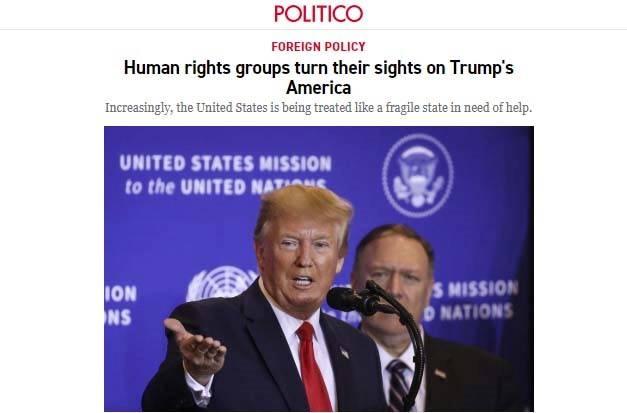"""真相丨被人权组织""""盯""""上 美媒:美国在人权问题上越来越被视为恶棍"""