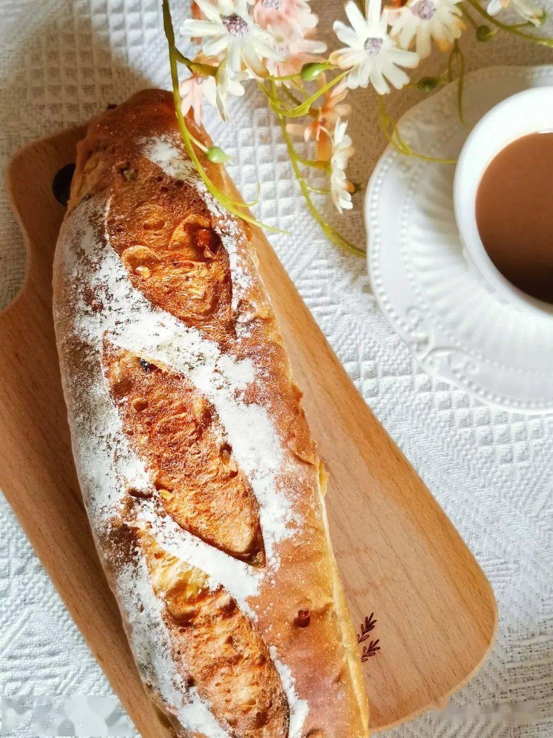 欧包▲懒人健康面包~低油少糖的全麦坚果欧包—法棍模具,