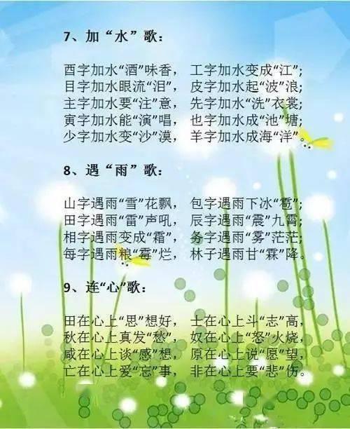 """小学语文顺口溜""""识汉字"""",语文学习也可以如此有趣(图4)"""