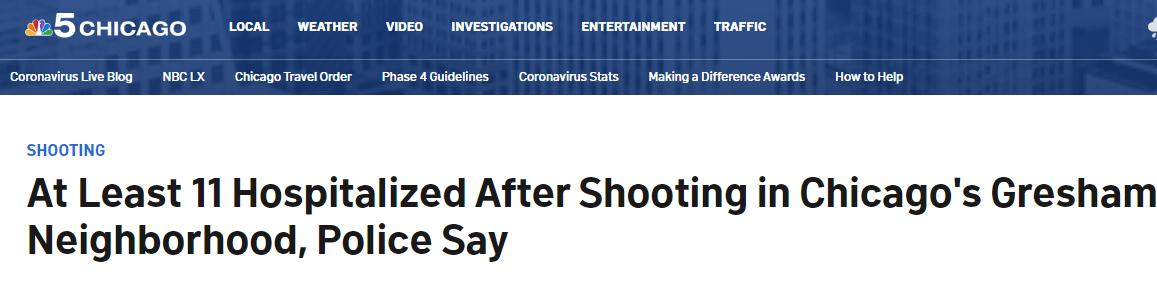 快讯!芝加哥突发大规模枪击事件,至少11人受伤