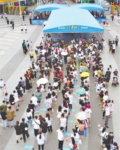 免票首个双休日:武汉多个景区游客爆满,预约名额秒光