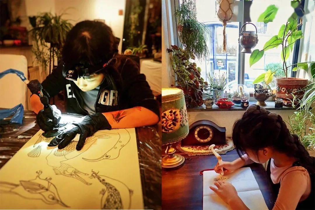 太酷了!日本女孩6岁入行,是全世界最小纹身师…看完我却只想拥有同款爸爸!插图(50)