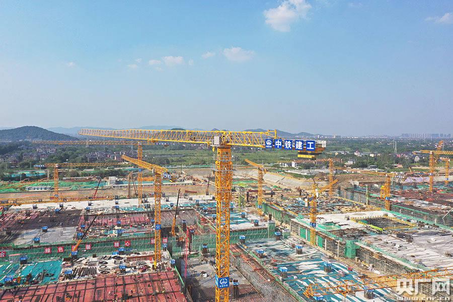 第四代新客站杭州西站全面转入地上结构施工