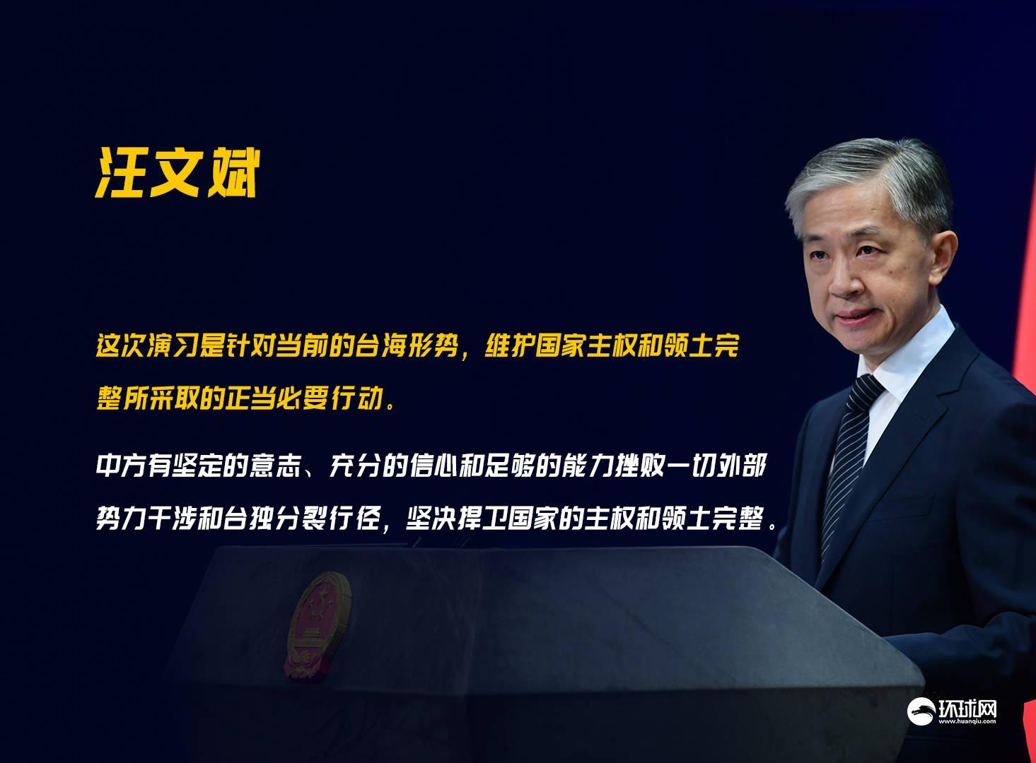 解放军在台湾海峡军事活动与美副国务卿访台有关?汪文斌回应