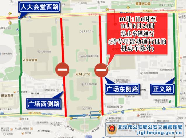 """提醒!北京这些门路""""十一""""假期接纳交通治理"""