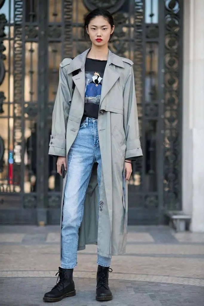 马丁靴+裙子,马丁靴+工装裤……又酷又撩,时髦炸了!     第41张