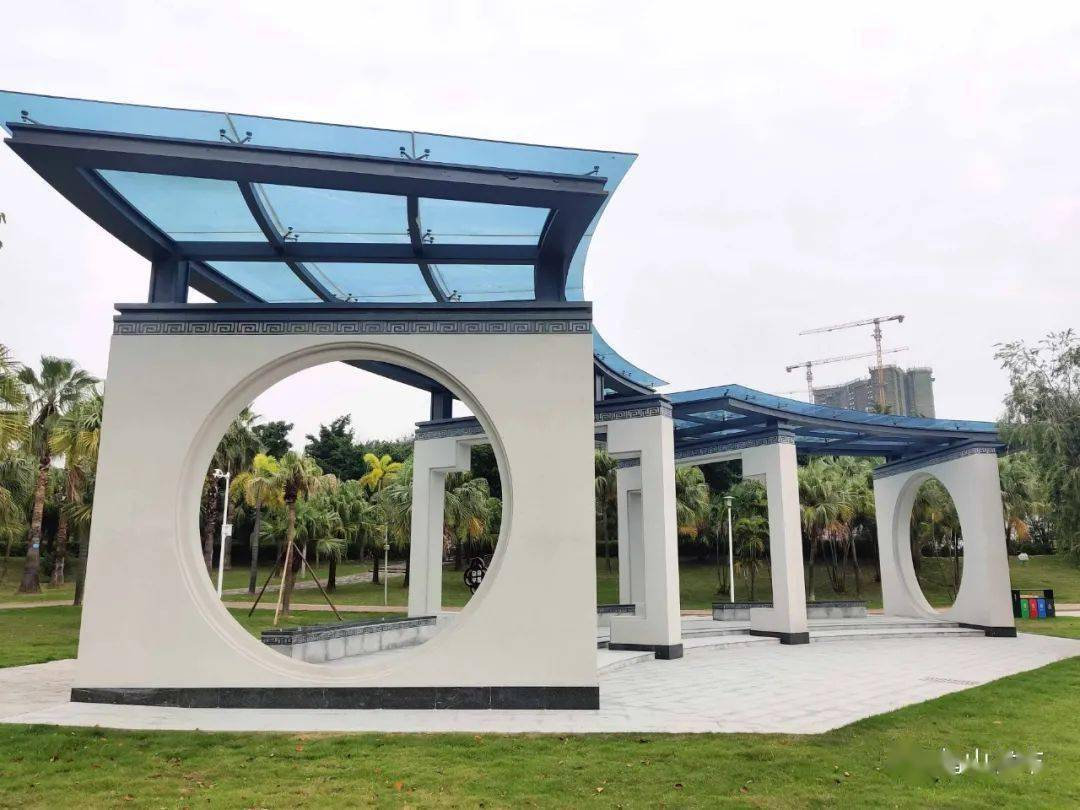 漂亮的!鹤山公园全新景观桥和观景亭、展厅震撼