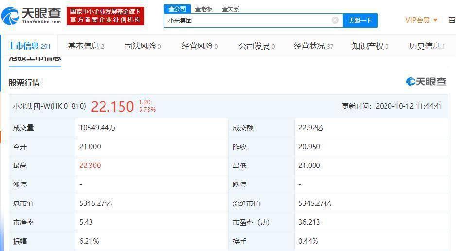 小米发布新一代连接技术UWB!股价大涨6% 据悉苹果也将发布此类技术新品