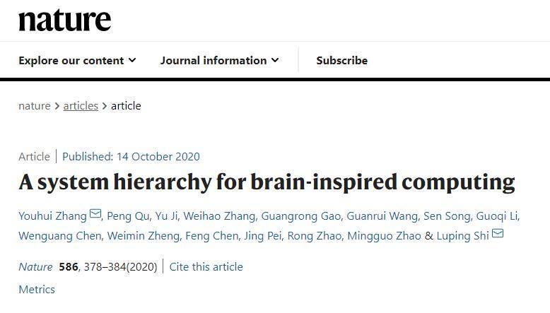 """清华首次提出""""类脑计算完备性""""及计算系统层次结构,登上Nature"""