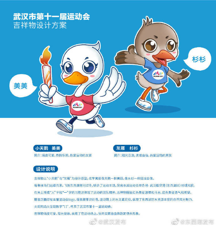武汉市第十一届运动会VI系统(会徽、主题口号、火炬外观和吉祥物)揭晓,快来围观!