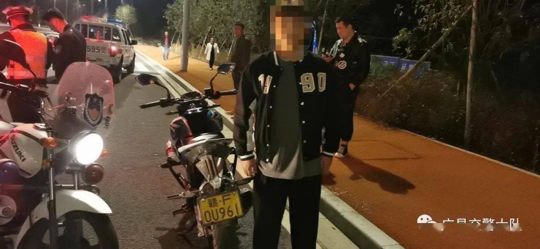 """重拳出击,广昌交警持续开展""""鬼火""""、大排量摩托车飙车整治行动"""