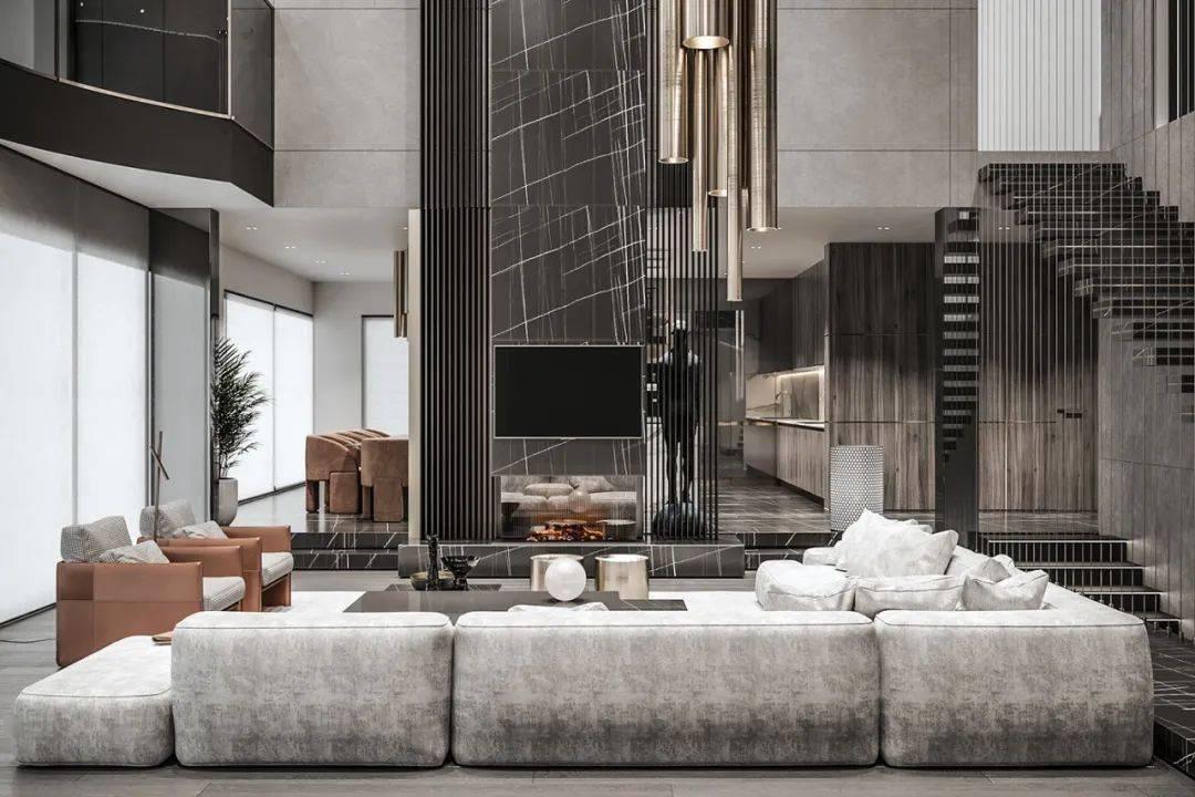 以大理石高级灰的色调为主,让整个空间弥漫着时尚又高级的气息