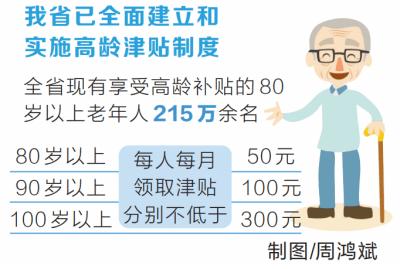 80岁以上老人高龄津贴当月认证次月领