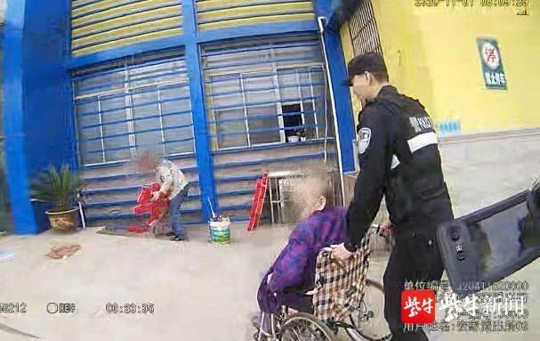 独居老人突发高血压,民警及时救助