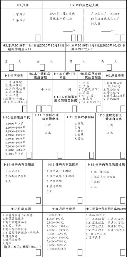 人口普查长表怎么计算_第七次人口普查长表