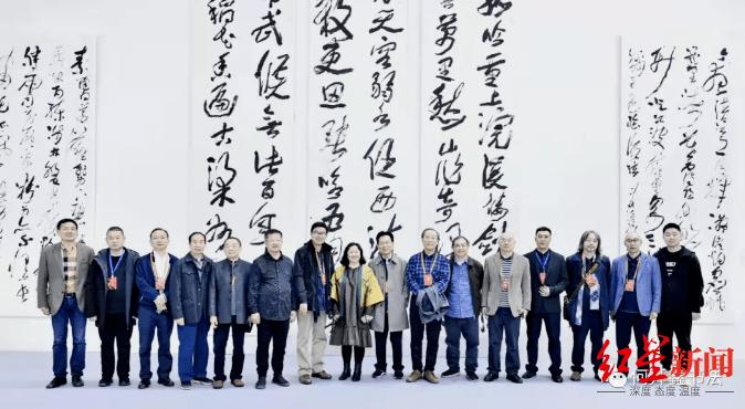 藏锋聚气裹惊雷:沈门蓬溪五人展亮相中国书法之乡