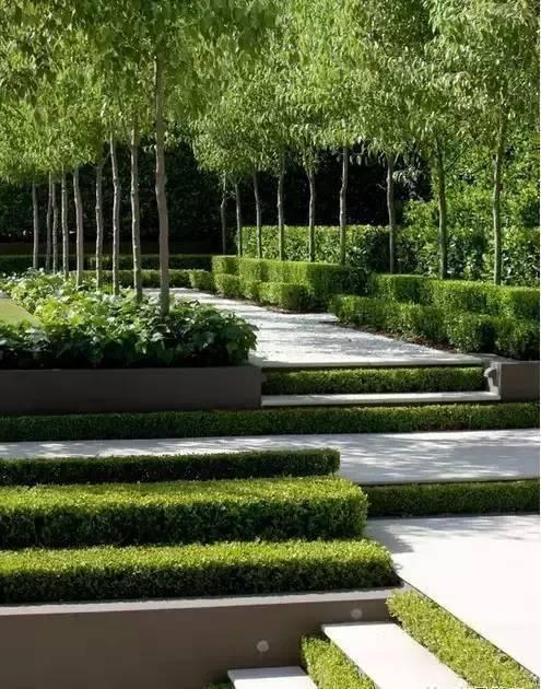 花园的不同层次,造成不一样的美!