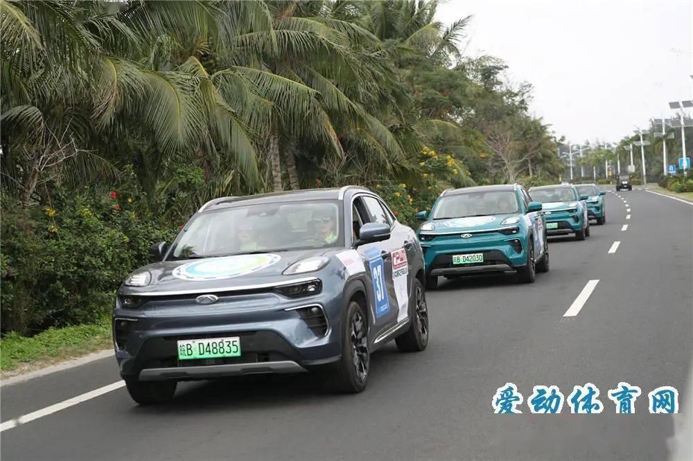 【赛车】2020海南国际新能源汽车拉力赛结束第一、二赛段争夺