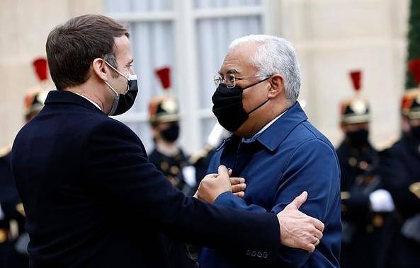 葡萄牙总理已自我隔离 曾与马克龙拥抱