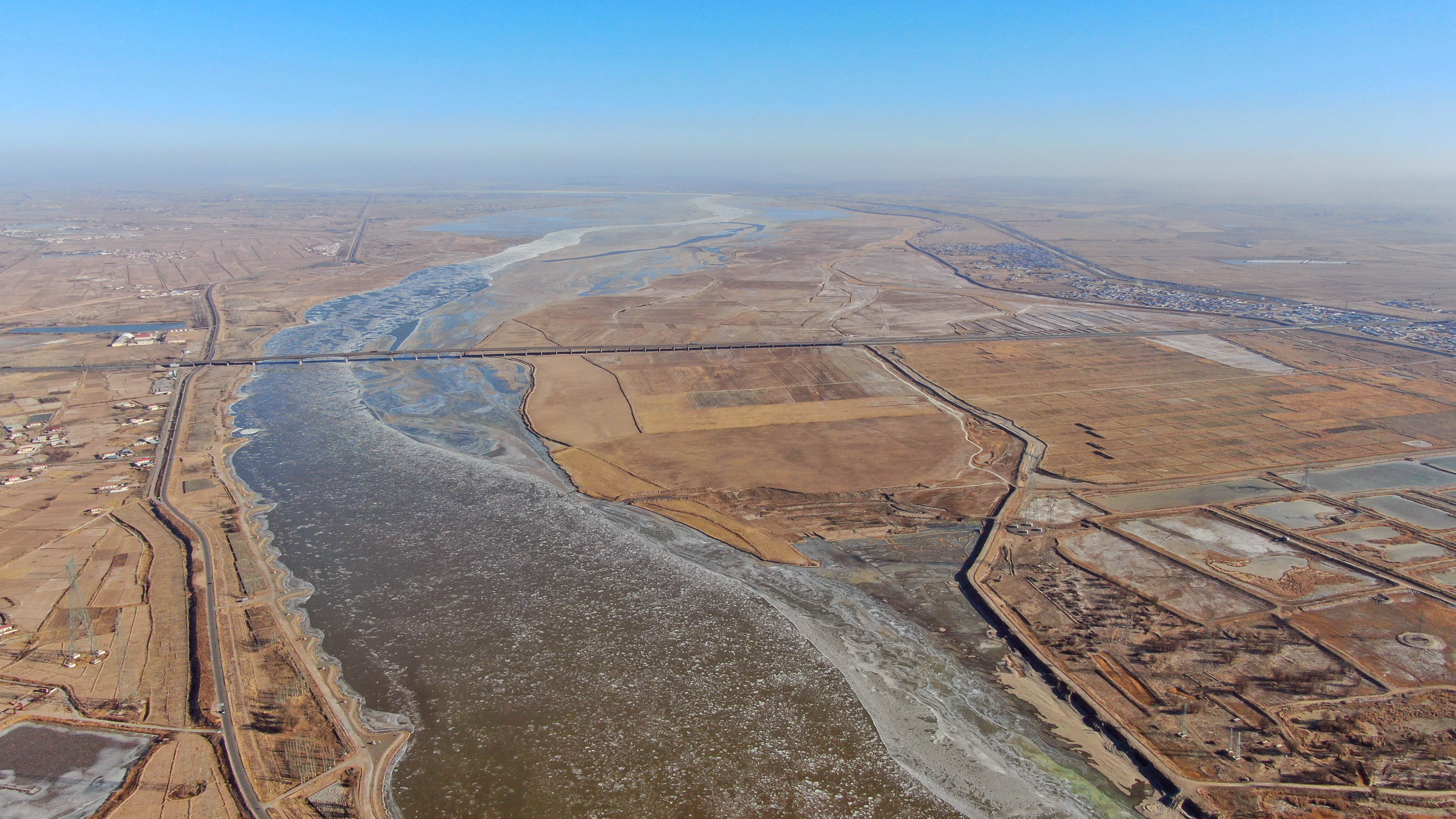 千里冰封!黄河封冻长度超500公里