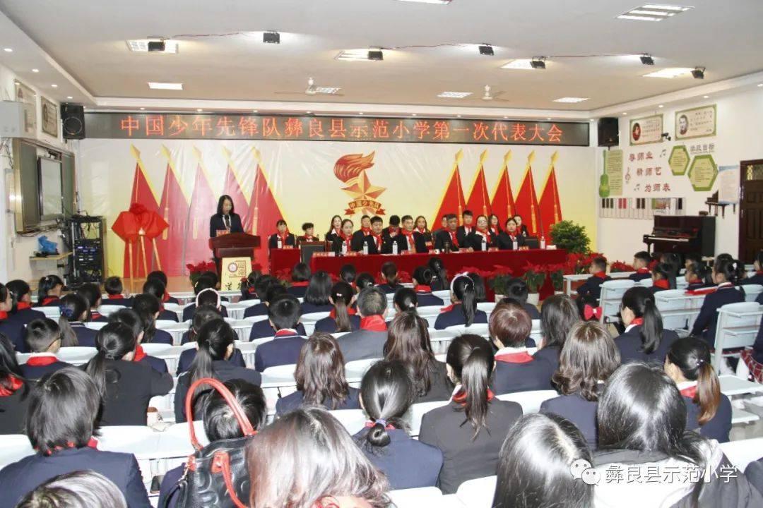 中国少年先锋队彝良县示范小学第一次代表大会召开