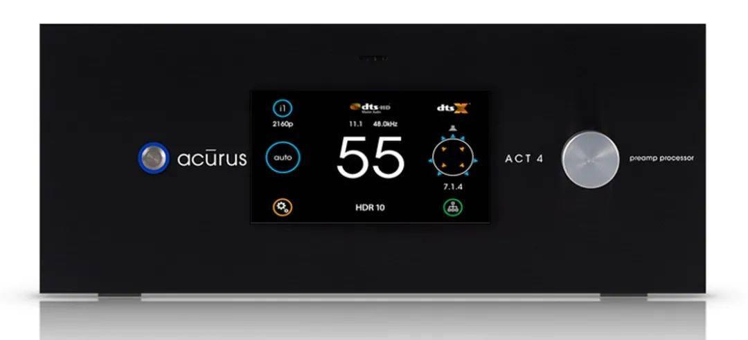 【新品速递】10倍速的20声道机种:Acurus ACT 4 环绕处理器