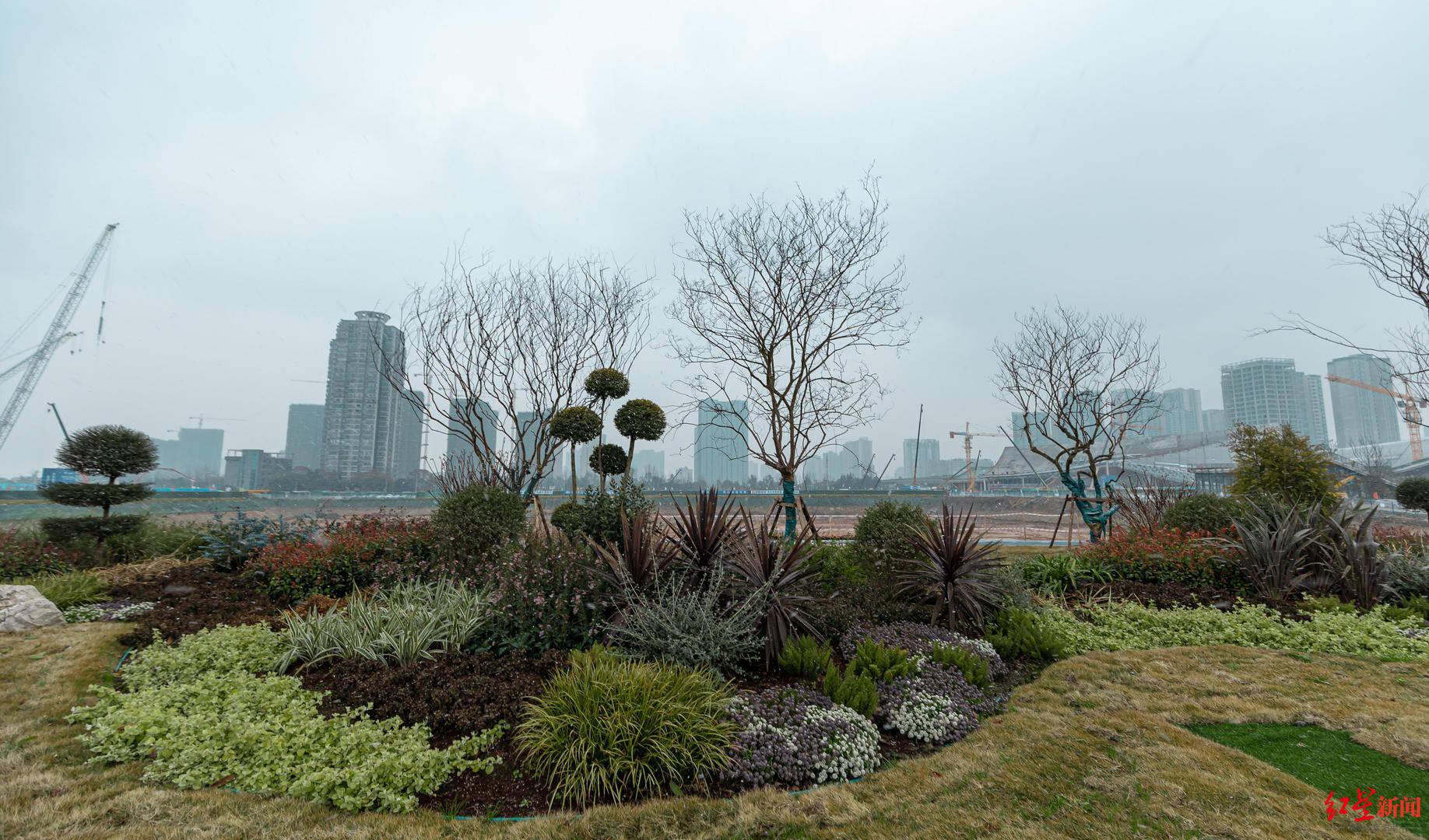 成都天府艺术公园建设内景首次曝光,2大地标雏形已现,预计6月核心区域将呈现