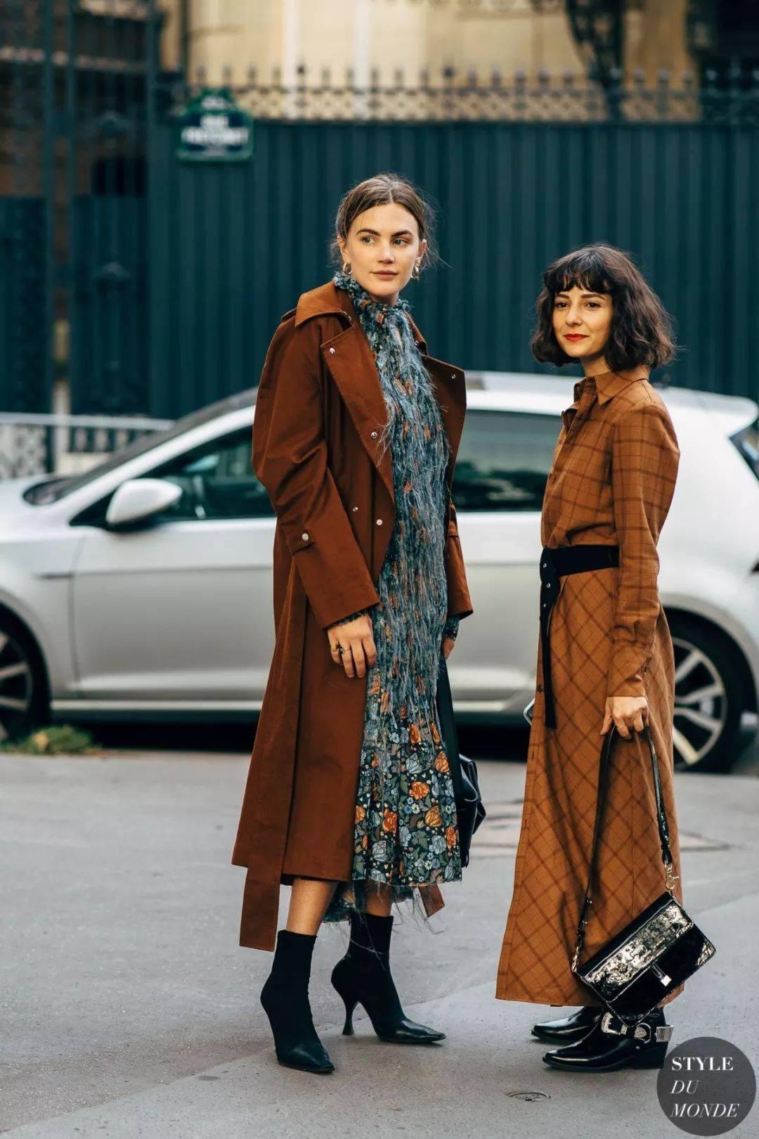 大衣+短靴=最时髦跨年搭配,好看炸了!