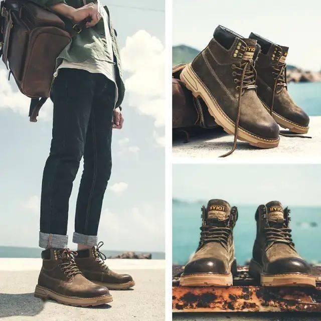 男人都该有双马丁靴:保暖反绒猪皮,帅到没朋友!