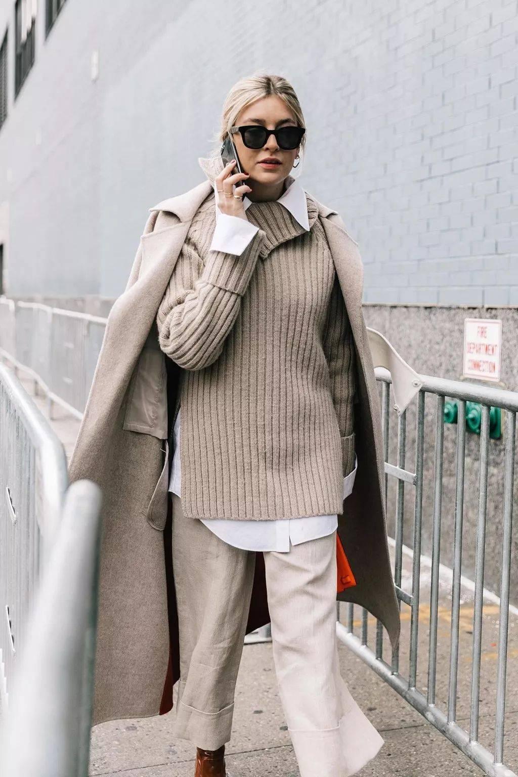 毛衣穿搭攻略,时髦的穿法都在这里