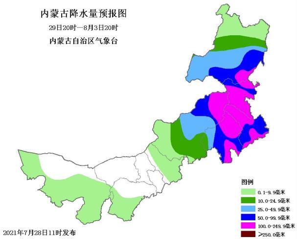 """受台风""""烟花""""影响 内蒙古局部地区将遭遇强降水"""