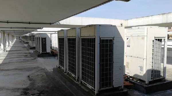 中央空调消毒现场