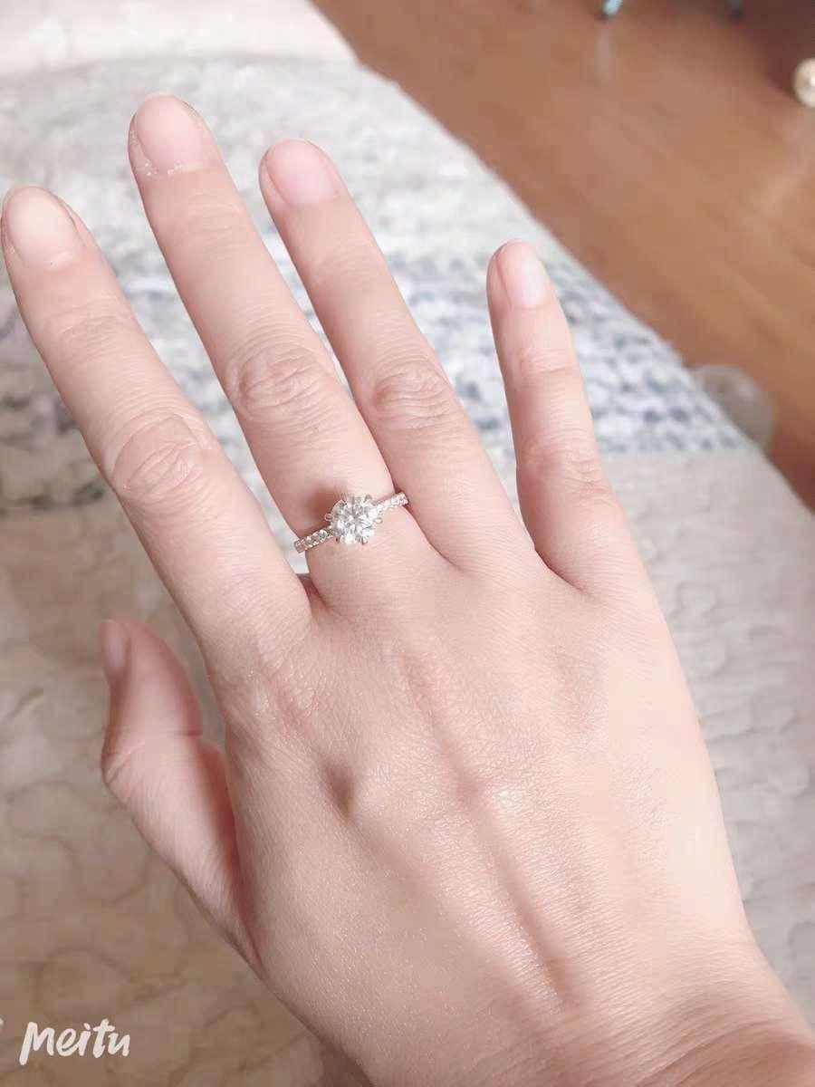 分享一款超好看的魔星莫桑钻戒指