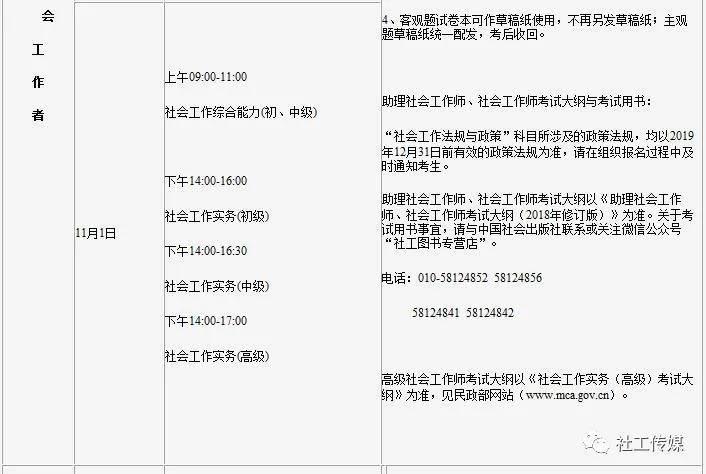 【吉林】2020年度社工职业水平考试考务工作通知
