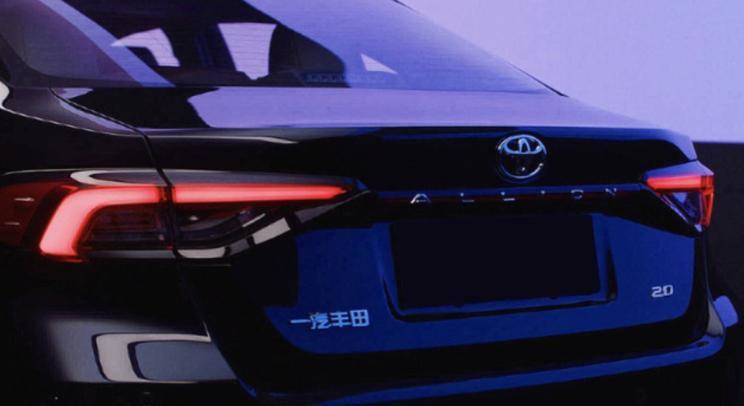 尾灯造型凌厉 一汽丰田傲澜车尾预告图-亚博-官网