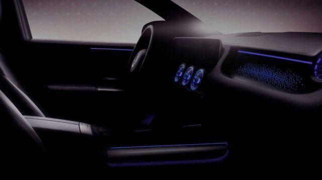 奔驰EQA内饰图曝光 将在2021年正式发布