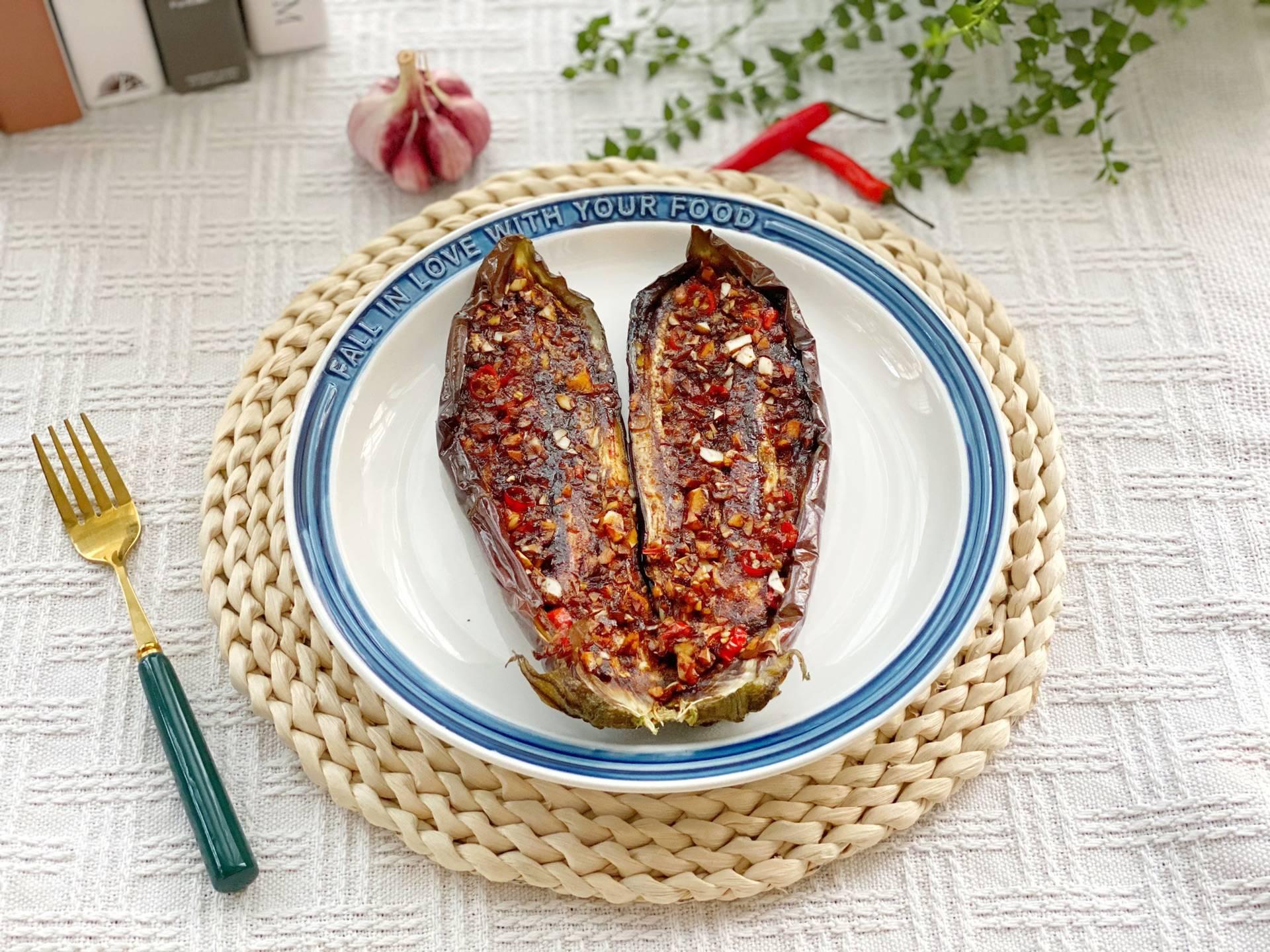 「蒜香烤茄子」的做法+配方,味道鲜美又开胃,茄子营养丰富