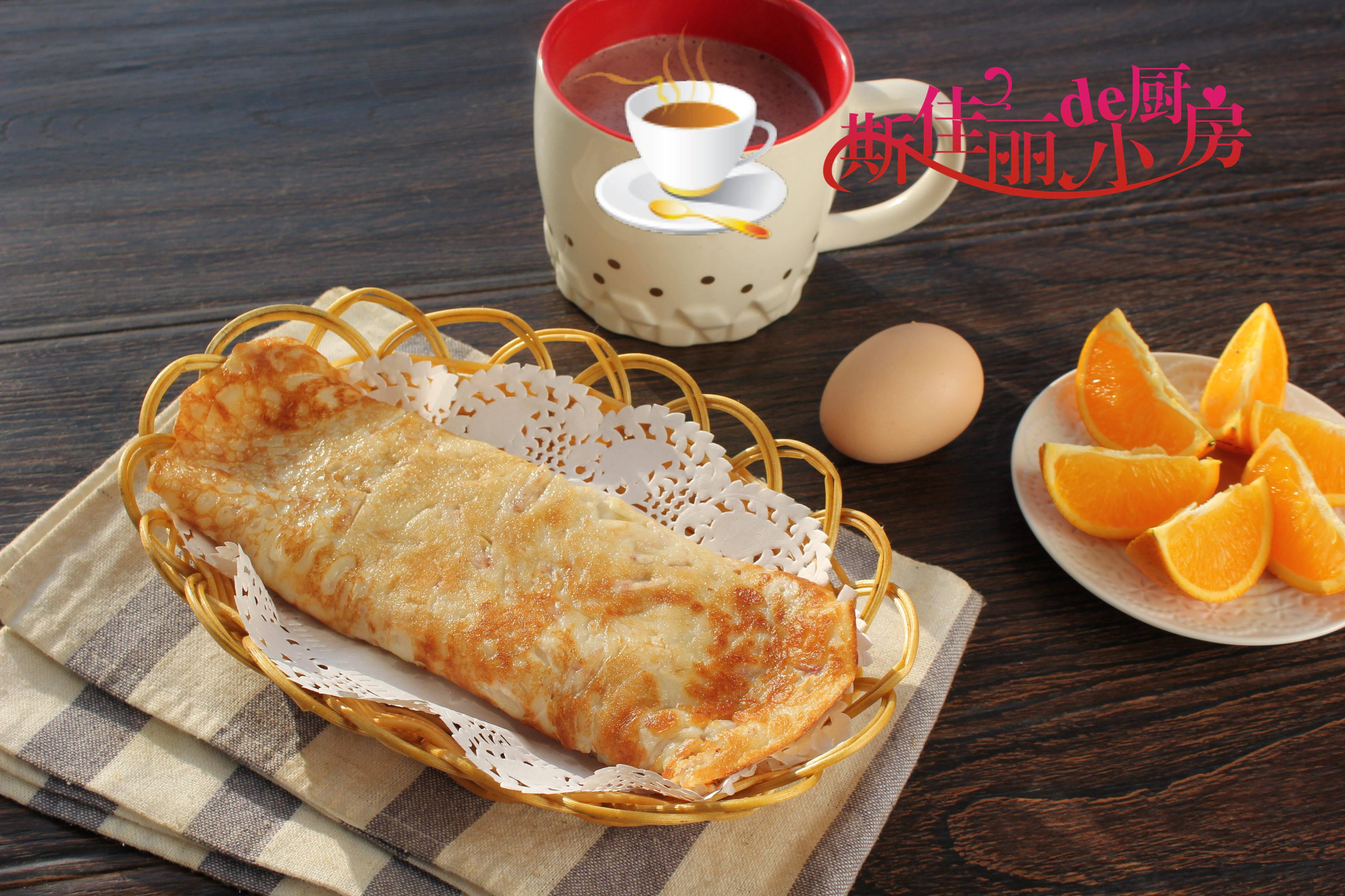 1月孩子就馋这早餐,手不用沾面筷子一搅,金黄香软上桌必吃光