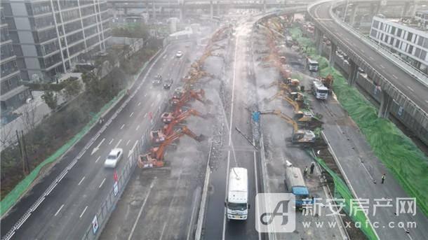 金寨路、南二环匝道开拆,场面壮观,改造势在必行!