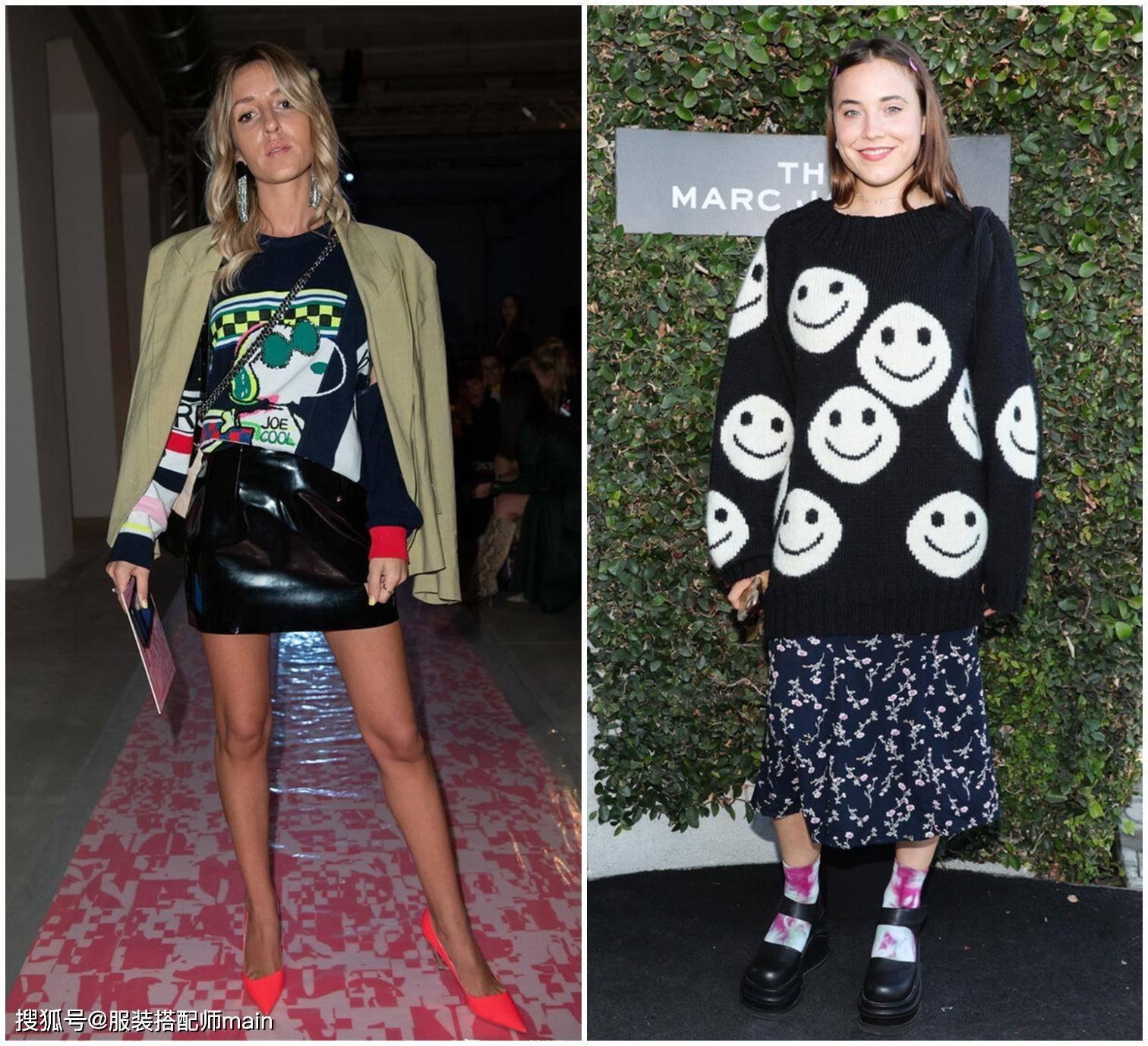印花毛衣,春天穿正好,教你4个精致又时髦的穿搭思路