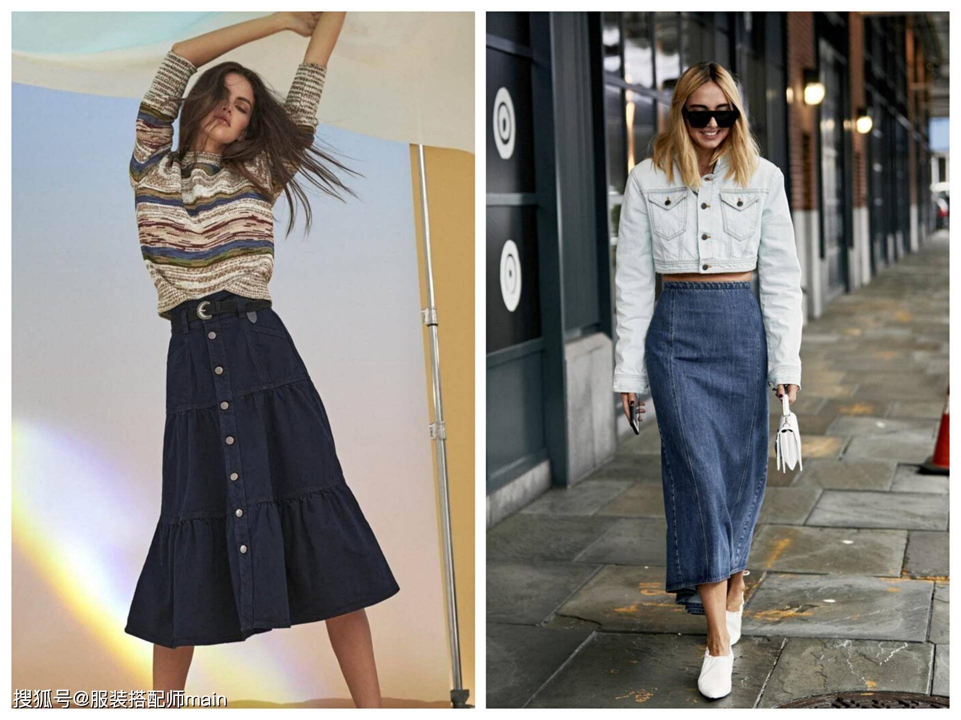 适合早春穿搭的五款牛仔裙,上班逛街都能穿