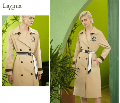 Lavinia启动春日新篇章——风衣的潇洒和自由
