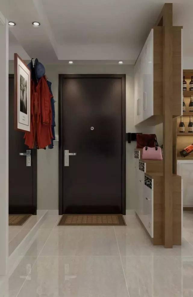 推门就是客厅,还怎么pt平台娱乐设计玄关?学学伶俐人这