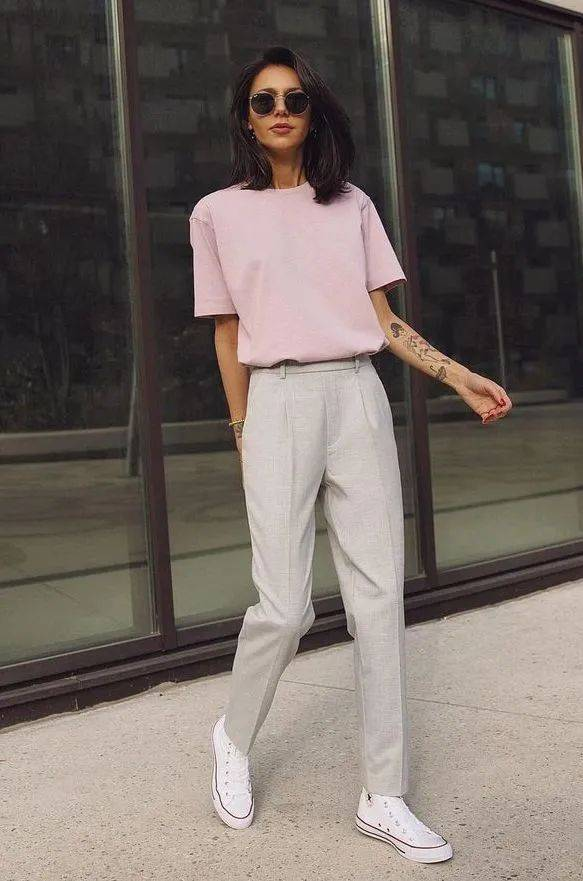 衬衫+烟管裤=2021巨天发娱乐appin混搭,好看到不像话!