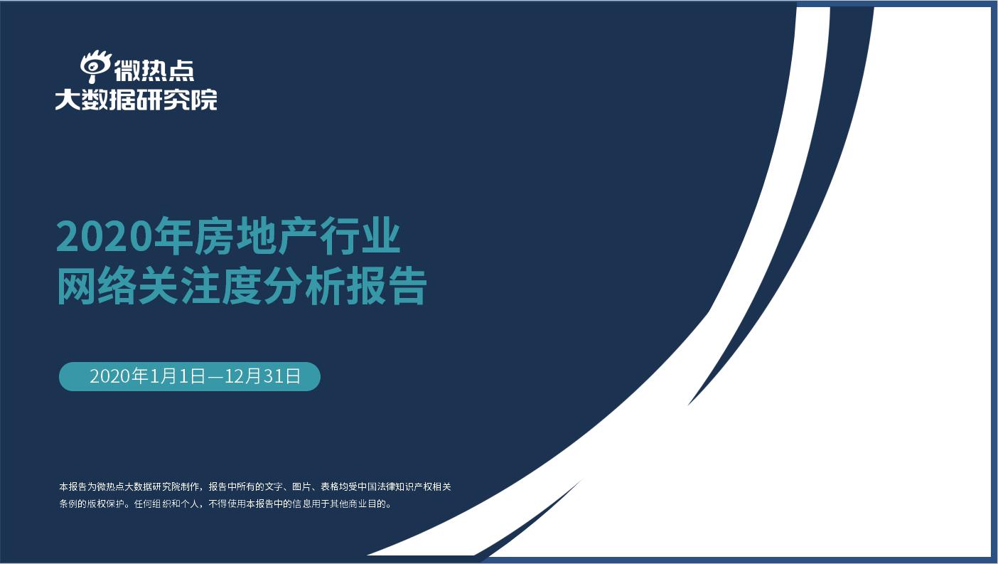 2020年度房地产行业网络关注度分析报告
