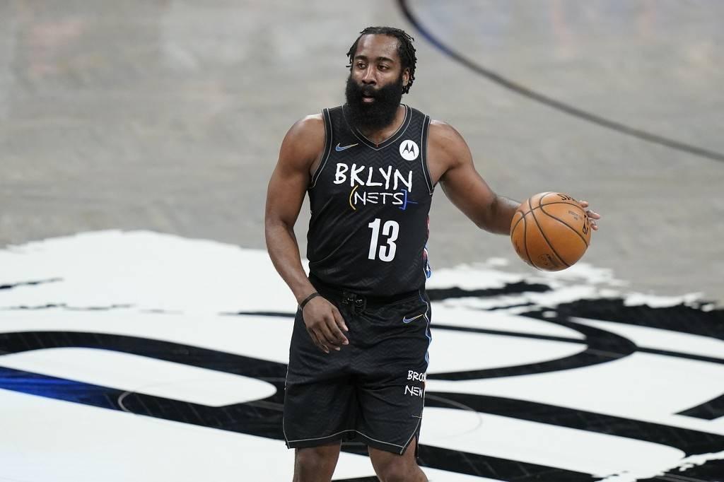 篮网宣布哈登遭遇右腿筋拉伤