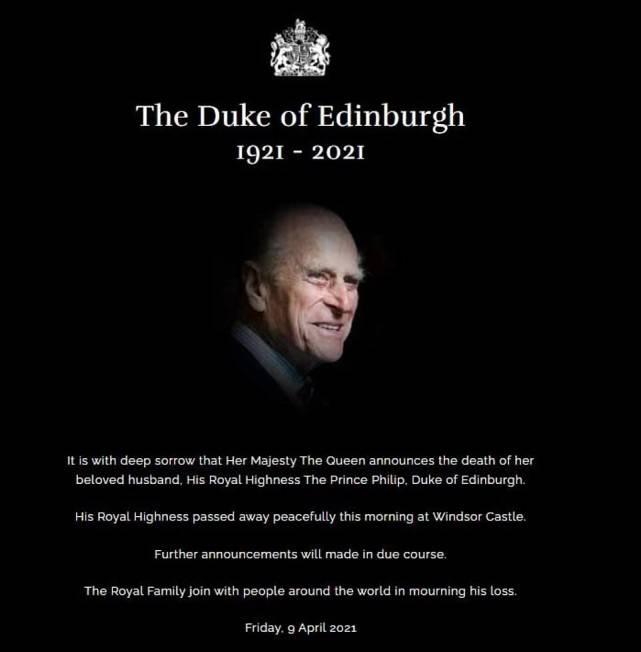 英国女王流泪照看着心疼!结婚74年的亲王离世,神仙眷侣天人永隔