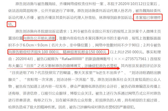 刘诗诗频遭网络暴力,本人维权索赔25万获赔5万元